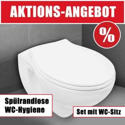 sanlux sp lrandloses wand wc wc sitz toilette klo absenkautomatik tiefsp ler ebay. Black Bedroom Furniture Sets. Home Design Ideas
