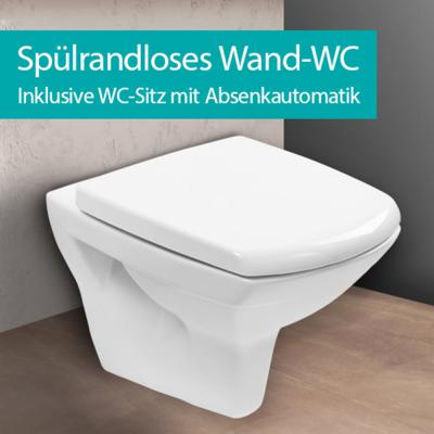 h nge wc sp lrandlos wand wc wc sitz absenkautomatik tiefsp ler design toilette ebay. Black Bedroom Furniture Sets. Home Design Ideas