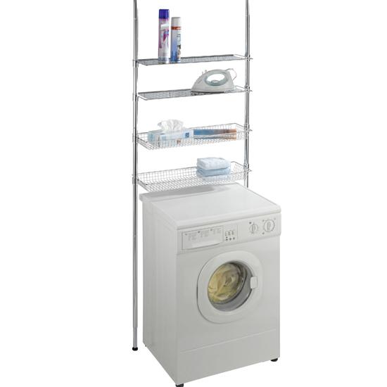 wenko teleskopregal ausziehbar waschmaschinen badezimmer unbenutzte b ware ebay. Black Bedroom Furniture Sets. Home Design Ideas