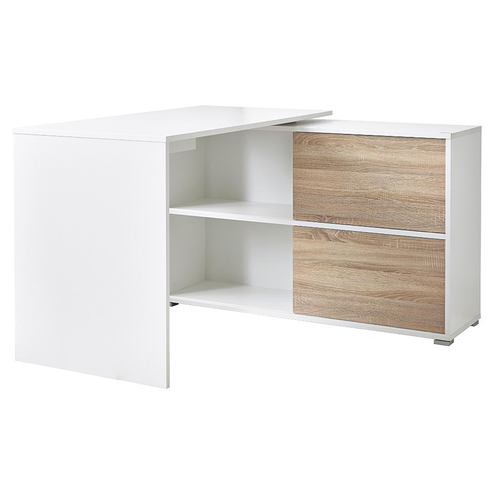Schreibtisch Bürotisch Arbeitstisch Winkeltisch Schiebetür 120x76x120 Anthrazit