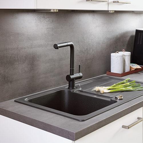 Feuchtigkeitsschutzboden 60cm Spülenunterschränke Küchenschränke Küche nobilia