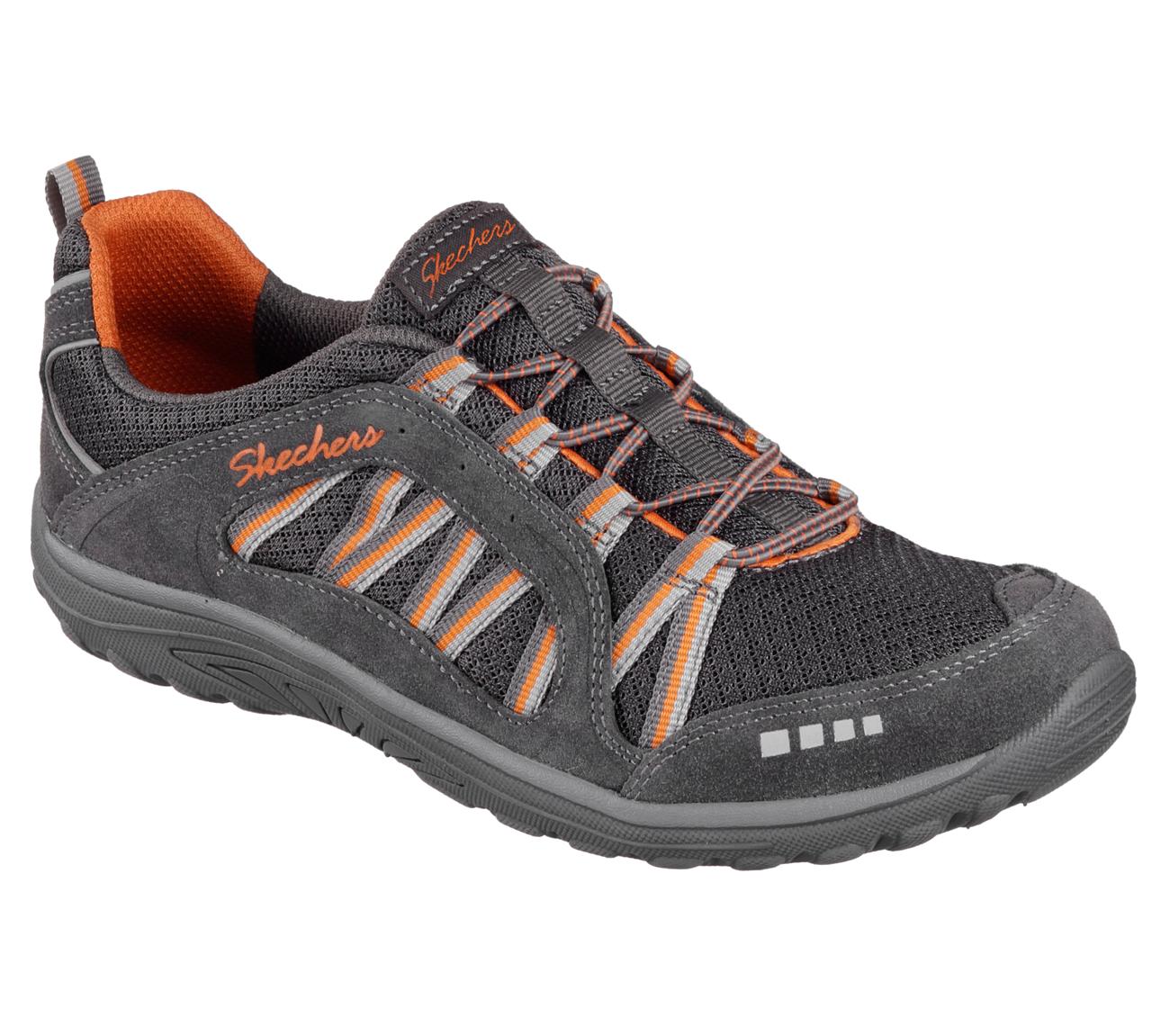 NEU SKECHERS Damen Sneakers Slipper Memory Foam DREAMCHASER ROMANTIC TRAIL Grau